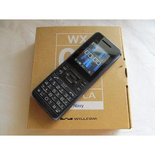 キョウセラ(京セラ)のY!mobile (WILLCOM) PHS WX08K STOLA Navy(PHS本体)