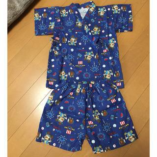 ディズニー(Disney)の美品 ベビーミッキー甚平 90(甚平/浴衣)