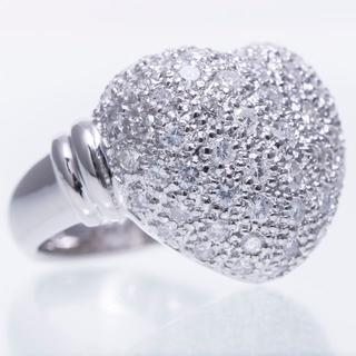 指輪 ダイヤ パヴェ ハート Pt900 リング(リング(指輪))