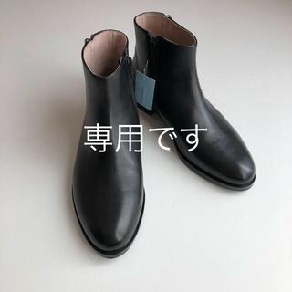 オゥバニスター(AU BANNISTER)の【aki様専用】Au BANNISTER サイドジップショートブーツ(ブーツ)