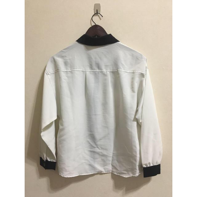 しまむら(シマムラ)のゆったり☺︎白透けシャツ キッズ/ベビー/マタニティのキッズ服 女の子用(90cm~)(ブラウス)の商品写真