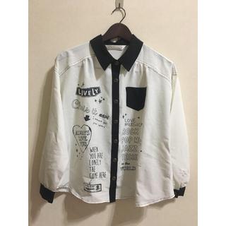シマムラ(しまむら)のゆったり☺︎白透けシャツ(ブラウス)