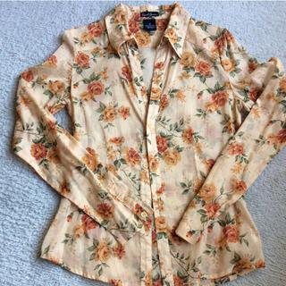アールジーン(Earl Jean)のアールジーン 花柄 シースルーシャツ(シャツ/ブラウス(長袖/七分))