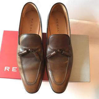 リーガル(REGAL)の美品リーガル regal ローファー 革靴 26 レザー 本革 ビジネスシューズ(ローファー/革靴)