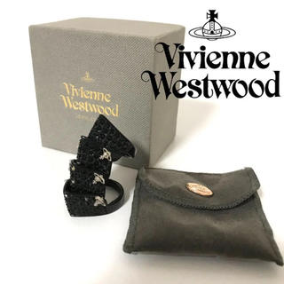ヴィヴィアンウエストウッド(Vivienne Westwood)のヴィヴィアンウエストウッド アーマーリング 指輪 ストーン ブラック 黒(リング(指輪))