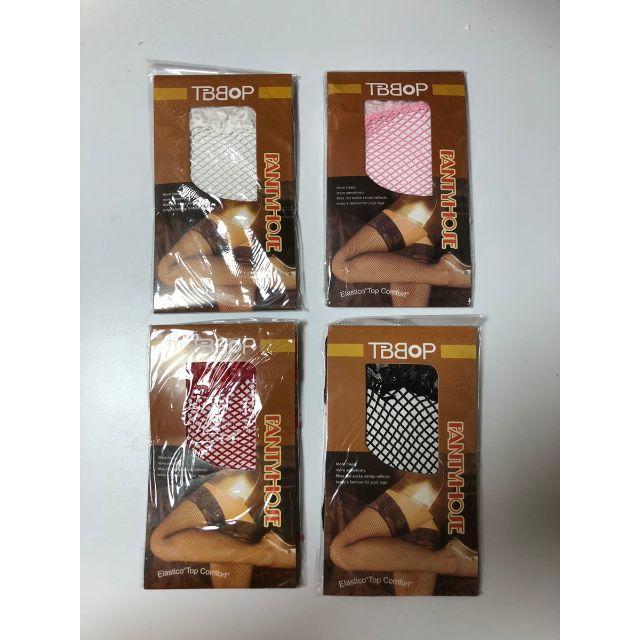 網タイツ コスプレ ストッキング セクシー コスチューム 白ホワイト ピンク エンタメ/ホビーのコスプレ(コスプレ用インナー)の商品写真