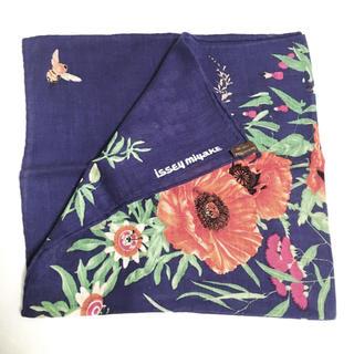 イッセイミヤケ(ISSEY MIYAKE)のISSEI MIYAKE イッセイミヤケ ヴィンテージスカーフ 昭和レトロ 花柄(バンダナ/スカーフ)