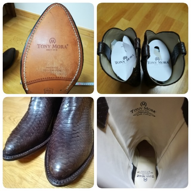 ✨TONY MORA ダイヤパイソンロングウエスタンブーツ サイズ37♪ レディースの靴/シューズ(ブーツ)の商品写真