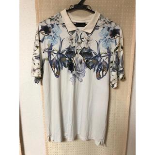 ザラ(ZARA)のZARA 花柄 ポロシャツ(ポロシャツ)