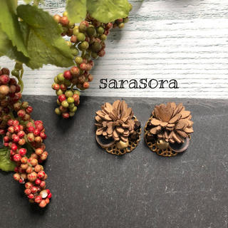 321 tree nuts earrings ピアスORイヤリング(ピアス)