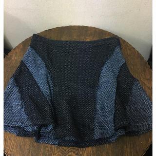 デレクラム(DEREK LAM)の美品 デニム風コットンツイードスカート 10CROSBY DEREK LAM(ミニスカート)
