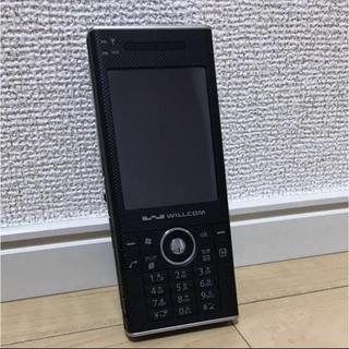 シャープ(SHARP)のウィルコム WS007SH ブラック(PHS本体)