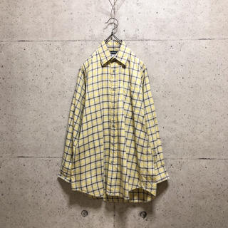 [used]'Burberrys' yellow plaid shirt.(シャツ)