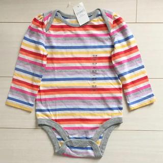 ベビーギャップ(babyGAP)の新品♡babygap 80 ボディシャツ ロンパース(ロンパース)