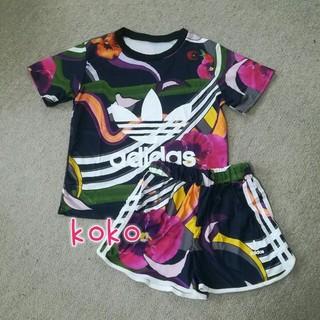 アディダス(adidas)のTシャツ&ショートパンツ セットアップ(セット/コーデ)
