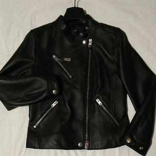コーチ(COACH)の【お値下げ中】  COACH レディースラム 革製品ジャケット(テーラードジャケット)