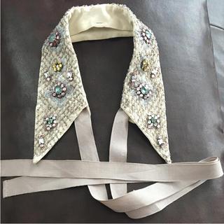 ザラ(ZARA)のZARA ビジュー つけ衿 リボン(つけ襟)