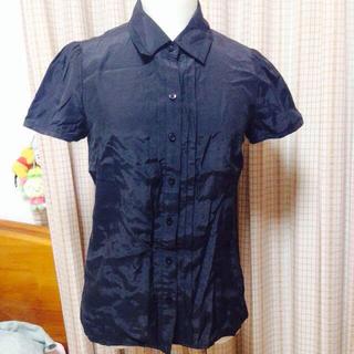 インディヴィ(INDIVI)の半袖シャツ 黒(シャツ/ブラウス(半袖/袖なし))