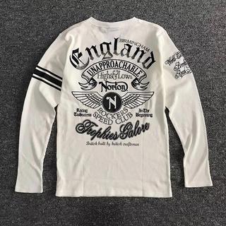 ノートン(Norton)のNorton ノートン ウイングVネックロンT 長袖シャツ 白 XL 未使用(Tシャツ/カットソー(七分/長袖))