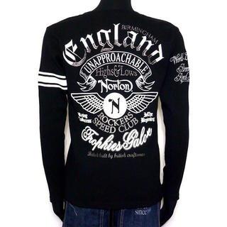 ノートン(Norton)のNorton ノートン ウイングVネックロンT 長袖シャツ 黒 L 未使用(Tシャツ/カットソー(七分/長袖))