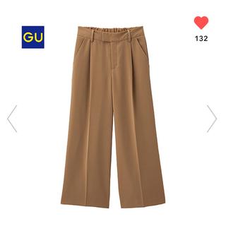 ジーユー(GU)の新品 ♡ GU センタープレスパンツ ワイドパンツ(バギーパンツ)