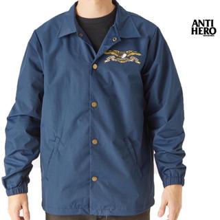 アンチヒーロー(ANTIHERO)の新品 ANTI HERO アンチヒーロー (L) コーチジャケット 紺色(ナイロンジャケット)