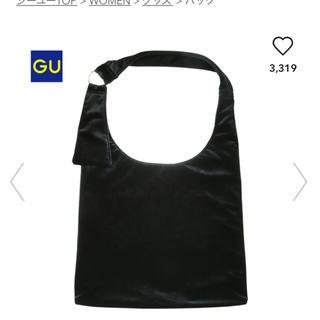 ジーユー(GU)のGU ベロアトートバッグ ブラック 新品 LOWRYSFARM 好きな方(トートバッグ)