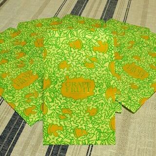 新作♥ ハンドメイド サイケなグレープフルーツ袋 10枚組 ぺらぺらロール紙(カード/レター/ラッピング)