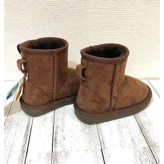 KIDS FORET(キッズフォーレ)のSALE中  Kids Foret ムートン調ショートブーツB53540② キッズ/ベビー/マタニティのベビー靴/シューズ(~14cm)(ブーツ)の商品写真