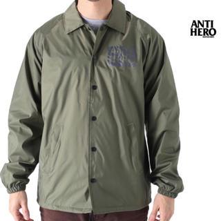 アンチヒーロー(ANTIHERO)の新品 ANTI HERO アンチヒーロー (L) コーチジャケット 深緑(ナイロンジャケット)