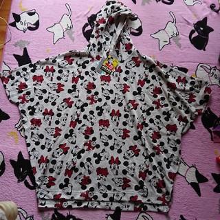 シマムラ(しまむら)のミッキーフード付きシャツ(Tシャツ(半袖/袖なし))