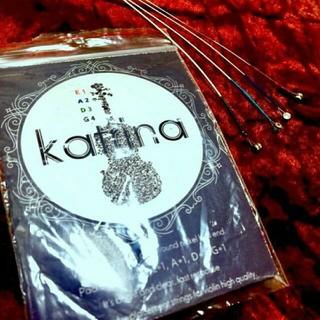 【新品】katrinaバイオリン弦全弦セット 4/4〜3/4 スチールコア弦(ヴァイオリン)