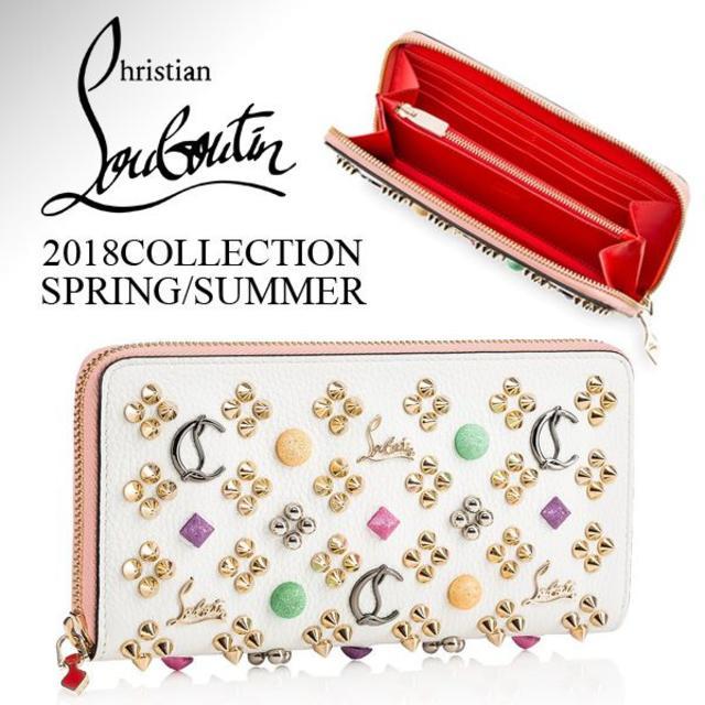 クリスチャン ルブタン18SS Loubinthesky ホワイトレザー長財布 メンズのファッション小物(長財布)の商品写真