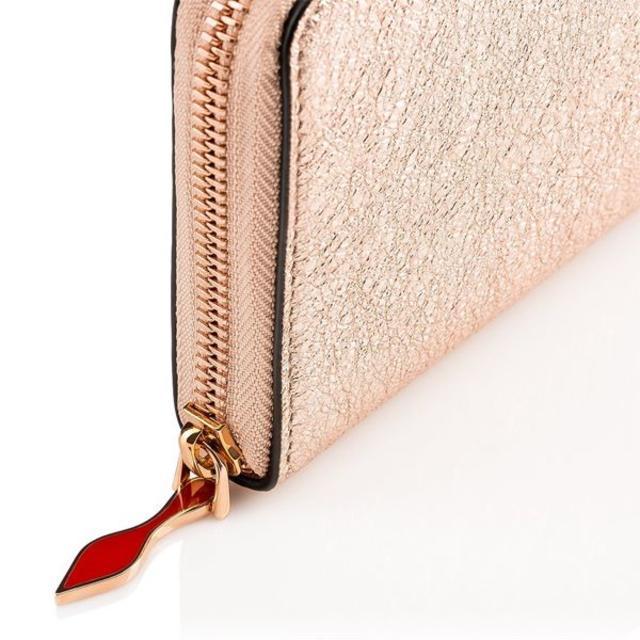 Christian Louboutin(クリスチャンルブタン)のクリスチャン ルブタン18SSPanettoneローズゴールド長財布 レディースのファッション小物(財布)の商品写真