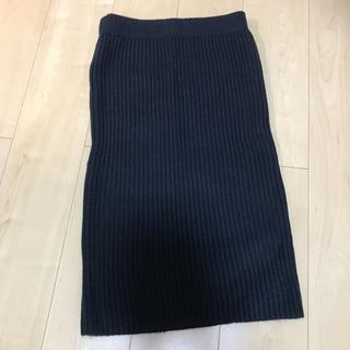 ジーユー(GU)のニットタイトスカート(ロングスカート)