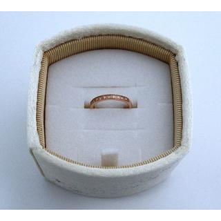 ヨンドシー(4℃)の4℃ピンクゴールド ハーフエタニティピンキーリング K10【美品】(リング(指輪))