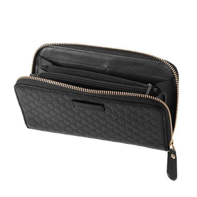 Gucci(グッチ)のGUCCIマイクロ グッチ シマ ブラックラウンドファスナー メンズのファッション小物(長財布)の商品写真