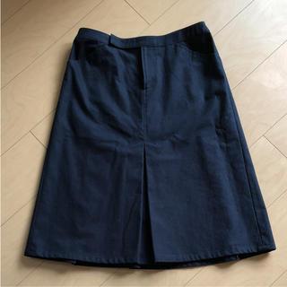 オールオーディナリーズ(ALL ORDINARIES)のHERHIS  紺のスカート  ALL ORDINARIES(ひざ丈スカート)