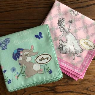 Disney - ディズニーハンカチ 2枚セット 新品未使用 白雪姫 ミスバニー