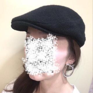 カシラ(CA4LA)の美品 grace グレース ハンチング 黒(ハンチング/ベレー帽)