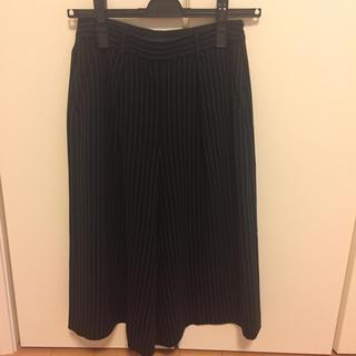 アナイ(ANAYI)の最終値下げ ANAYI ストライプ ガウチョパンツ美品 34サイズ(その他)