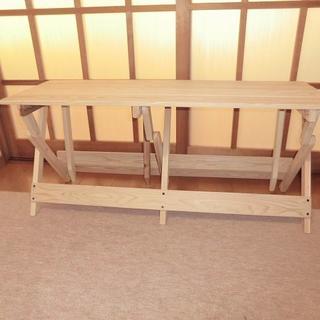 杉折りたたみベンチ(幅100cm)無塗装