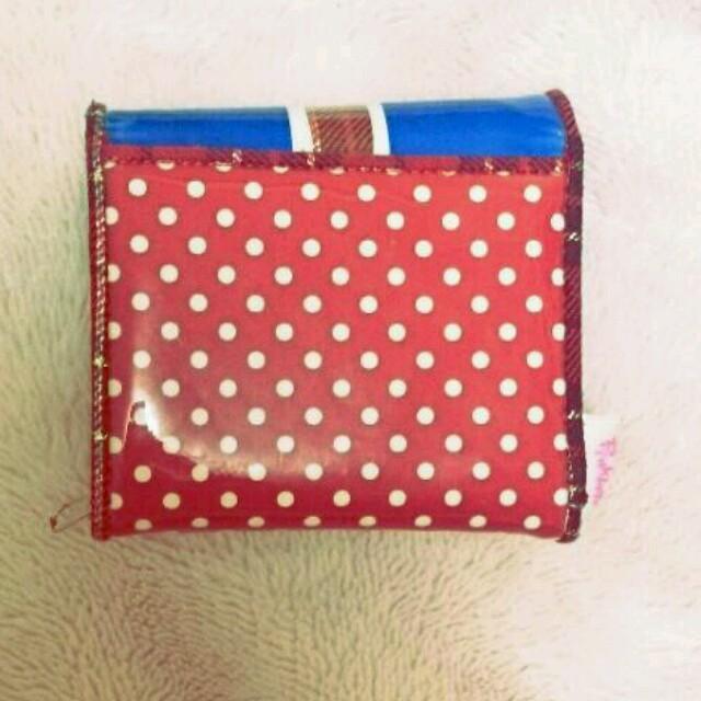 PINK-latte(ピンクラテ)のユニオンジャック&ドット柄二つ折り財布 レディースのファッション小物(財布)の商品写真