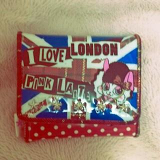 ピンクラテ(PINK-latte)のユニオンジャック&ドット柄二つ折り財布(財布)
