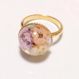 お花の指輪❤︎フリーサイズ(リング)