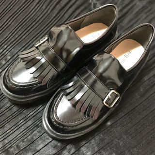 アメリエルマジェスティックレゴン(amelier MAJESTIC LEGON)のローファー (厚底) ブラック (ローファー/革靴)