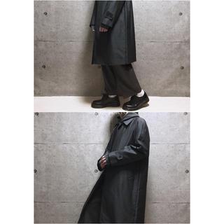 [used]black gray bal collar coat.(ステンカラーコート)