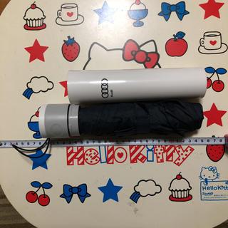 アウディ(AUDI)のAudi アウディ プラスチックケース付き・折り畳み傘(傘)