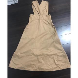 サカヨリ(sakayori)のyoriヨリ チノジャンパースカート サイズ36(ロングワンピース/マキシワンピース)
