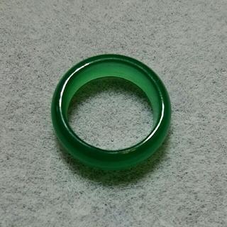 天然石☆グリーンカルセドニーリング 約8号(リング(指輪))